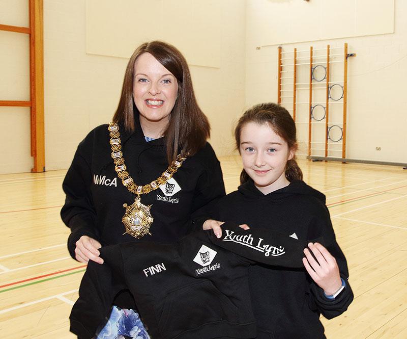Belfast Lord mayror receives a hoodie