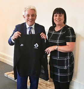 Speaker Mr. John Bercow MP with Youth Lyric administrator